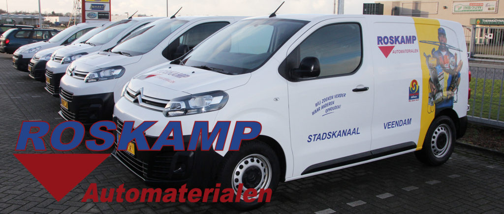 Roskamp Automaterialen Service met logo Same Day Delivery