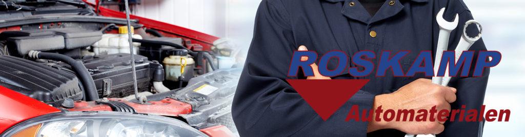 roskamp automaterialen garage met logo roskamp